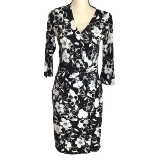 Item - and Faux Wrap Floral Print Mid-length Work/Office Dress Size 4 (S)