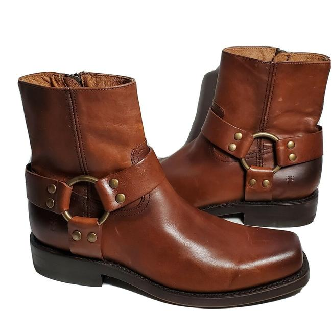 Item - Brown Ankle Ryder Harness Leather Zip Boots/Booties Size US 8 Regular (M, B)