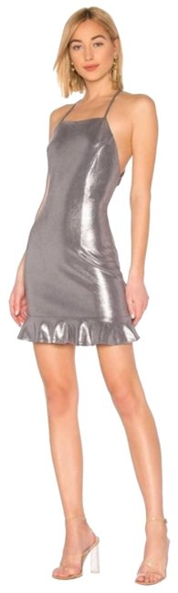 About Us Silver Darlah Night Out Dress Size 2 (XS) About Us Silver Darlah Night Out Dress Size 2 (XS) Image 1