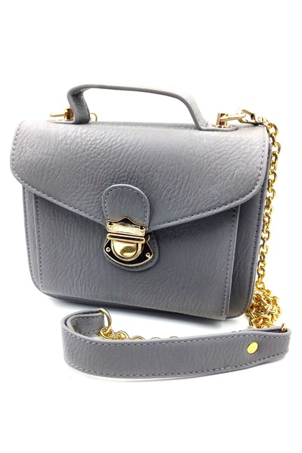 Item - Lovely Small Purse Gray Faux Leather Shoulder Bag