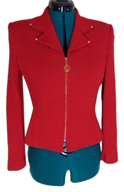 Item - Red Collection Zip Up Jacket Size 4 (S)