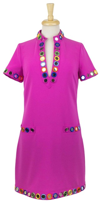 Item - Pink Couture X Jeremy Scott Mirror Embellished T-shirt 6/40 Short Casual Dress Size 6 (S)