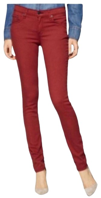 Item - Red Denim Clay Skinny Jeans Size 2 (XS, 26)