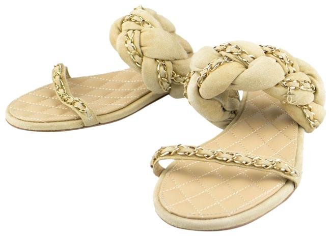 Item - Beige Braided Suede Leather Mules Sandals Size US 7.5 Extra Wide (Ww, Ee)
