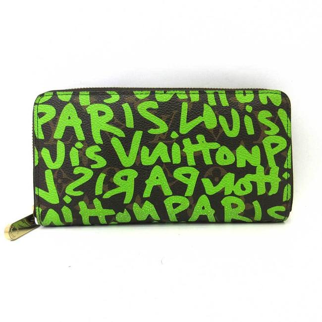 Item - Brown / Green / Monogram / Monogram Zippy Graffiti Veil Long Round Zipper Men's Women's M93712 Wallet
