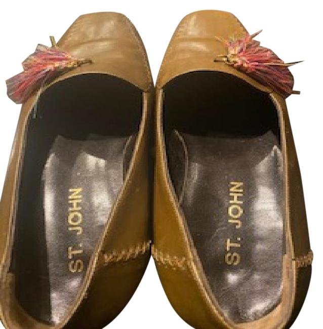 Item - Olive Green Loafers with Tassel Detailing Flats Size US 8 Regular (M, B)