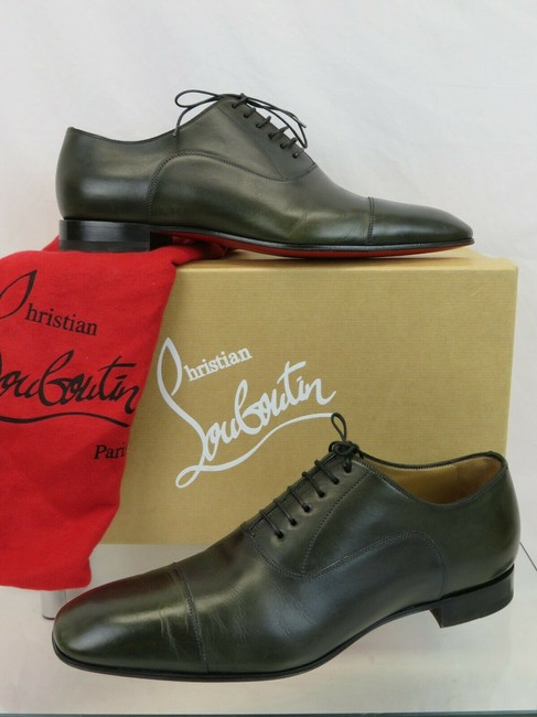Item - Green Greggo Flat Tyrol Leather Lace Up Oxfords 42 9 Italy Shoes