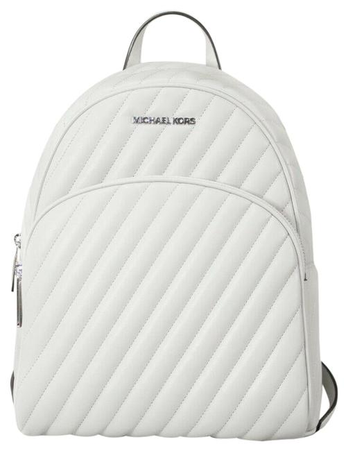 Item - Abbey Medium Quilted Book Aluminum Vegan Faux Leather Backpack