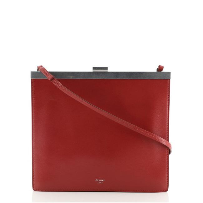 Item - Clasp Mini Red Leather Cross Body Bag