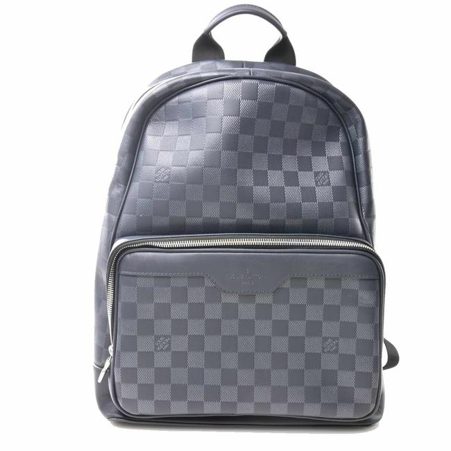 Item - Amphini Campus Leather Damier Canvas / Infini / Navy Backpack