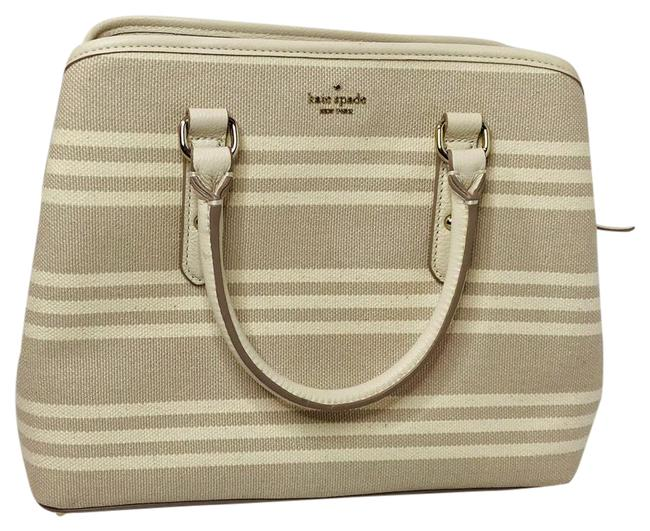 Item - 25098992 White Tan Canvas Cross Body Bag