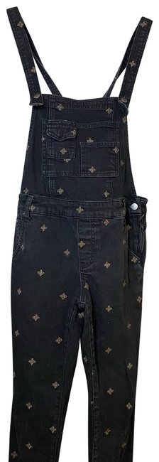 Item - Black | Embroidered Star Overalls Pants Size 2 (XS, 26)