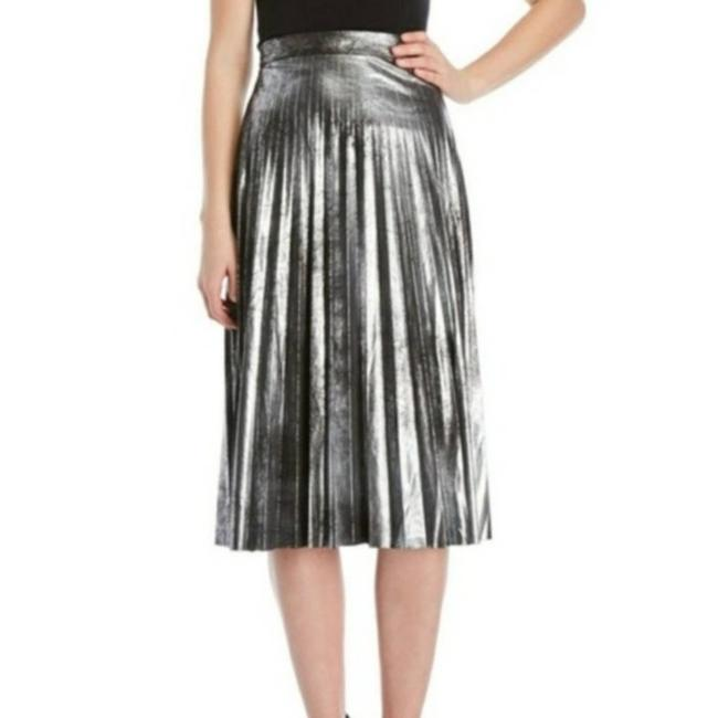 Item - Silver A-line Black Pleated Skirt Size 4 (S, 27)