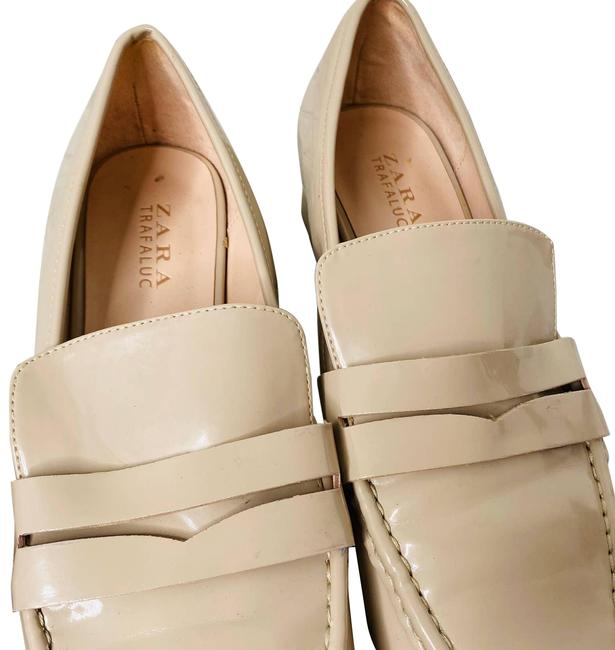 Item - Cream Patent Leather Loafers Flats Size EU 41 (Approx. US 11) Regular (M, B)