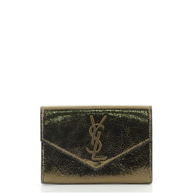 Item - Gold Classic Monogram Flap Leather. Small Wallet