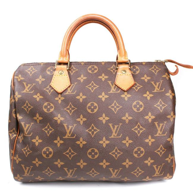 Item - Speedy Monogram 30 Leather Small Brown - Tan Coated Canvas Weekend/Travel Bag