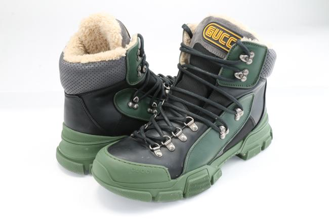 Item - Green Flashtrek High-top Sneaker with Wool Shoes