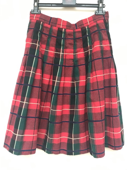 Item - Red Wool Knee High Skirt Size 8 (M, 29, 30)