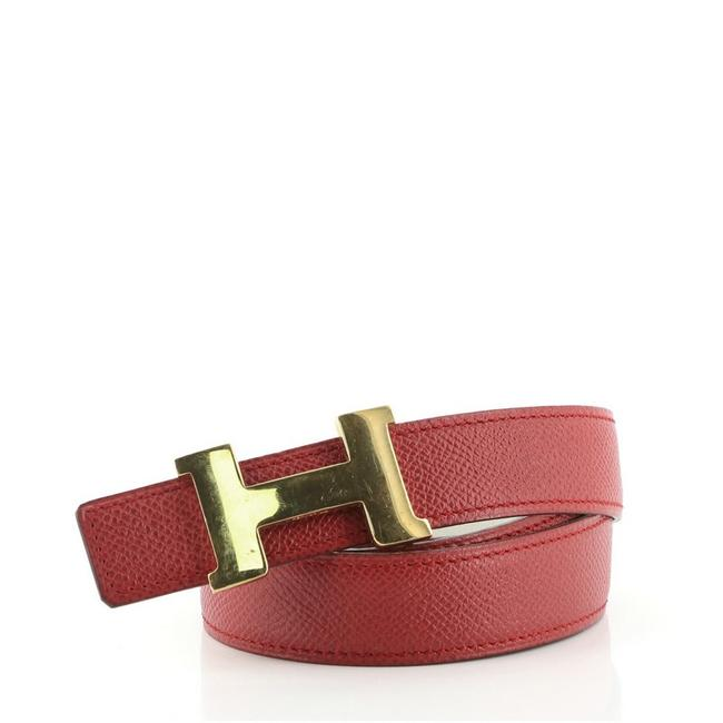 Item - Red Constance Reversible Leather Thin Belt
