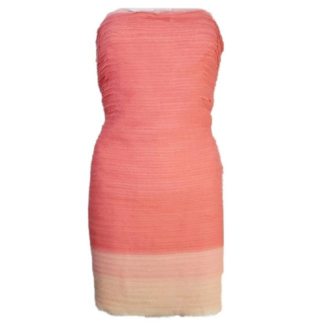 Item - Coral Pink Rigby Ruffle Short Cocktail Dress Size 12 (L)