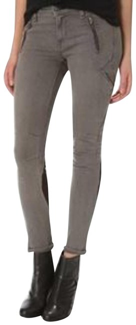 Item - Gray Black Suede Pactch Skinny Jeans Size 4 (S, 27)