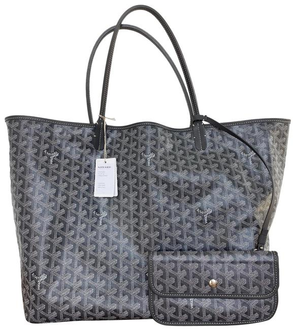 Item - Gray Coated Canvas Tote