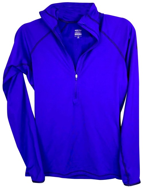 Item - Purple Dri Fit Long Sleeve Pullover Quarter Zip Med Activewear Outerwear Size 10 (M)
