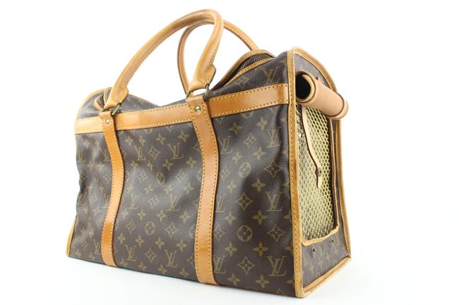 Item - Brown Sac Chien Tote Hard To Find Monogram 50 Dog Carrier Pet 7lvs0 Cosmetic Bag