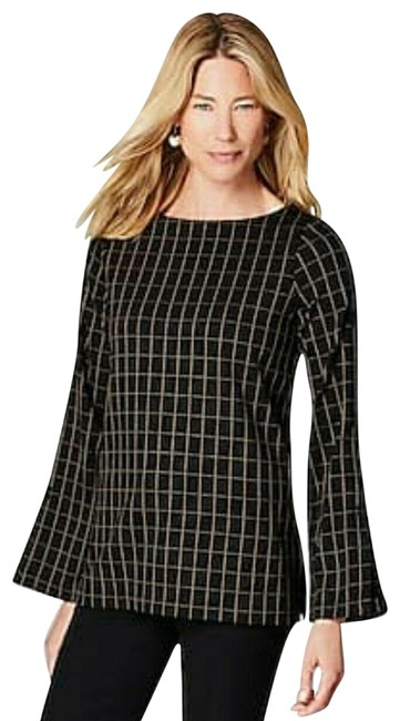 Item - Black Window Pane Tunic Size 26 (Plus 3x)