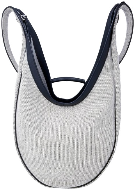 Item - Luco With Natural Black Canvas Leather Hobo Bag