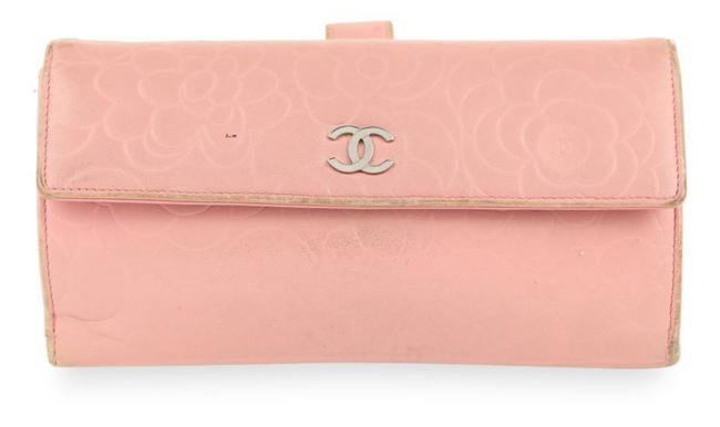 Item - Pink Camellia Leather Wallet