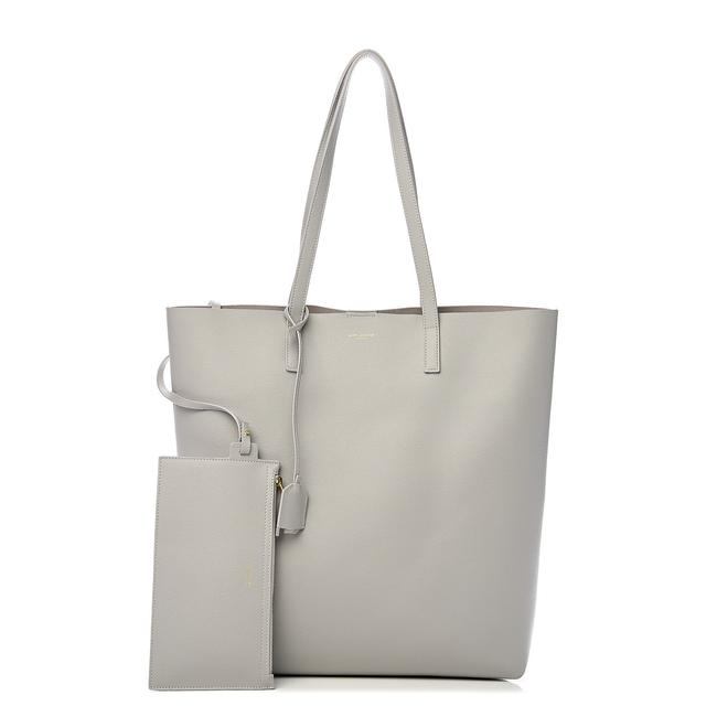 Item - Bag Shopping Calfskin North-south Oyster Grey Leather Tote