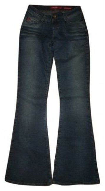 Miss Sixty Flare Leg Jeans-Dark Rinse Image 0