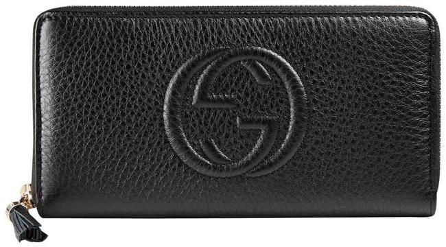 Item - Soho New Zip Wallet Card Case Pouch Black Leather Clutch