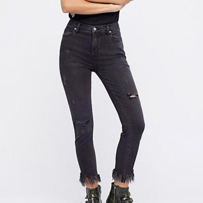 Item - Black Distressed Great Heights Frayed Crop Skinny Jeans Size 25 (2, XS)