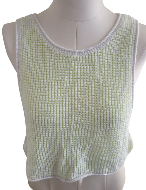 Item - Yellow and White Jj713 Activewear Top Size 4 (S)