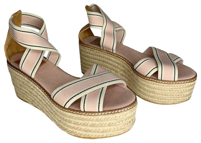 Item - Pink Frieda Espadrille Platform Sandal Wedges Size US 6.5 Regular (M, B)