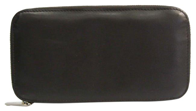 Item - Dark Brown Long V9l06 Unisex Calfskin (Bi-fold) Wallet