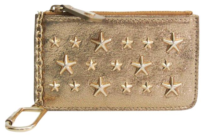 Item - Metallic Gold Nancy Women's Leather Studded Coin Purse/Coin Wallet