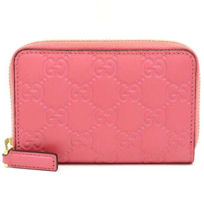Item - Pink Shima Round Zipper Coin Purse Leather 255452 Wallet