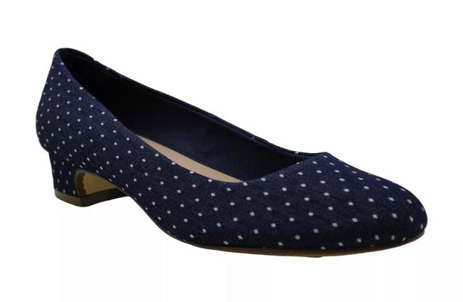 Item - Blue Denim Dot Pumps Size US 5.5 Regular (M, B)