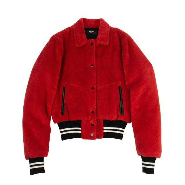 Item - Red Sherpa Band Bomber Activewear Outerwear Size 8 (M)