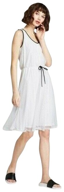 Item - White For Target Mesh A-line Mid-length Short Casual Dress Size 6 (S)