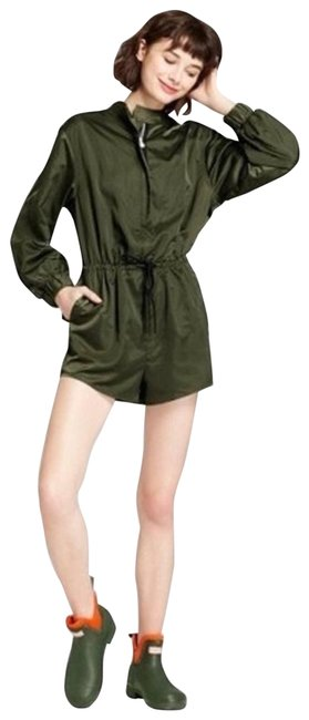 Item - Green For Target Army Satin Romper/Jumpsuit
