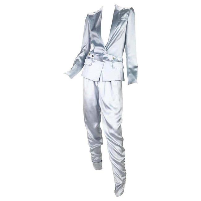 Item - White/Silver New Tom Ford For Yves S/S 2004 Look #1 Pant Suit Size 4 (S)