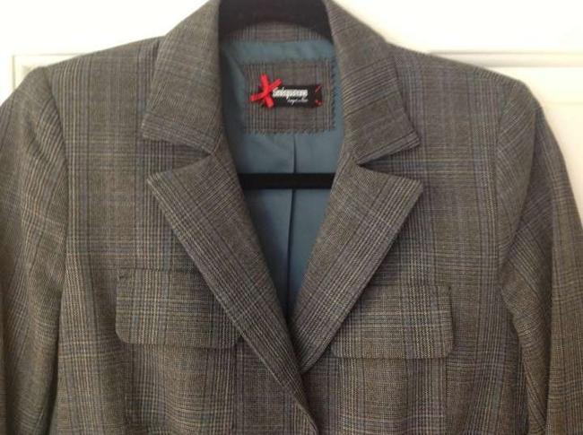 Siniquanone grey plaid Blazer