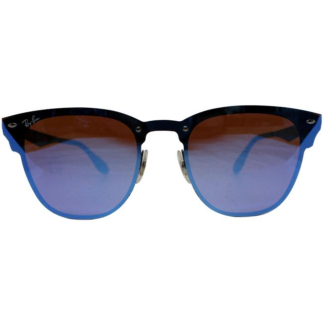 Item - Violet/Blue Mirrored Lens & Matte Black Frame Rb3576n 153/7v Square Sunglasses