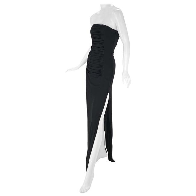 Item - Black 2001 Vintage Tom Ford For Yves Silk Strapless Long Night Out Dress Size 4 (S)