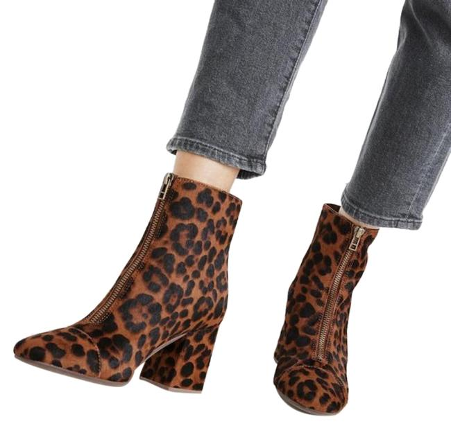 Item - Brown Black Amalia Zip In Leopard Calf Hair Boots/Booties Size US 7 Regular (M, B)