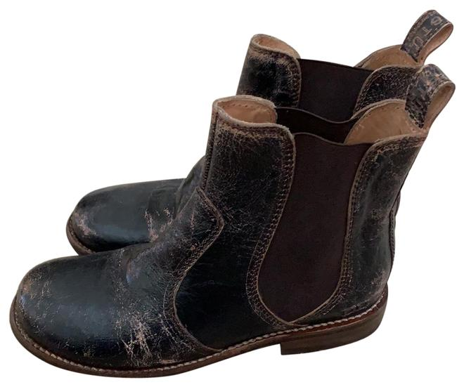 Item - Black Leather Distressed Boots/Booties Size US 8 Regular (M, B)